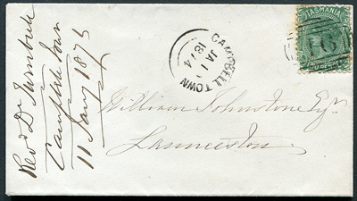 Tasmania-Postal-History-Cover-Cambridge-1874